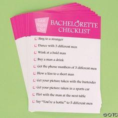Good Bachelorette Party Checklist to help plan