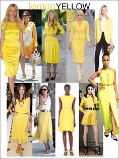 Yellow is a great color and not just as an accent or in an accessory. The key to working the bright hue is to keep everything else neutral. Try tan, brown, or black shoes, belts and bags.
