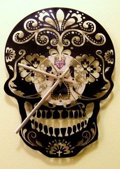 Love this sugarskull clock