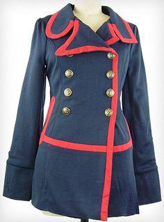Hello Captain! Sailor Coat   PLASTICLAND