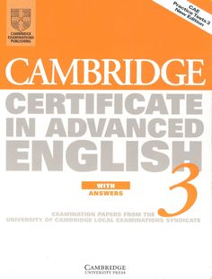 CAE Cambridge Test Book 3. With Key | Scribd