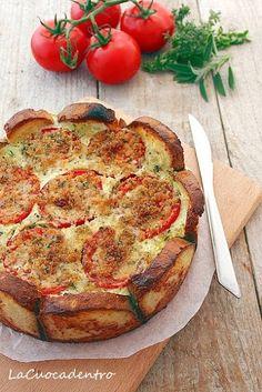 torta salata pane pomodori e patate!