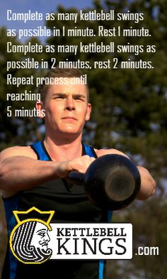 Intense kettlebell exercise and I barely managed to complete the 2 minute segment.