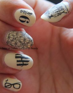 Harry Potter Nail Art with MyOnline Shop JR-2 and JR-31. http://talesofcoffeelacquerandbeauty.blogspot.com/