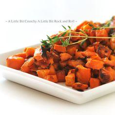 A Little Bit Crunchy A Little Bit Rock and Roll: Thyme-Roasted Garlic Sweet Potatoes