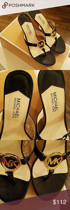 MICHAEL KORS Michael Kors, Women's Sandals. Firm price. 10 inches from toe to heel. Michael Kors Shoes Wedges