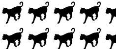 cat shapes pattern