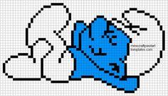 Minecraft Pixel Art Templates: Smurf