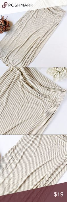 Max Studio Striped Maxi Skirt Just the perfect maxiskirt. Super sketchy. Comes with a fold over top. L 40. W 14. 95% rayon 5% spandex. *49 –59 Max Studio Skirts Maxi