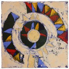 Título: Carrusel  Autor: Alvaro Galindo Vácha  Dimensiones: 40 x 40 cm  Técnica: Acrílico sobre tela  Año: 2010  Firmado: Frente y Revés