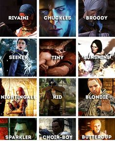 Varric and his nicknames. http://tainted-knight.tumblr.com/archive