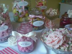 Vintage pink candy buffet by Bristol Candy Buffet