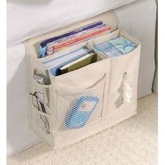 Bedside caddy, oh how I need one of these!