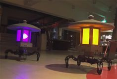 These Quadruped Robots Double as Japanese Garden Lamps