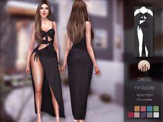 The Sims 4 mody do gry: Sukienka od Busra-tr The Sims 4 Pc, My Sims, Sims Cc, Los Sims 4 Mods, Sims 4 Game Mods, Sims 4 Mods Clothes, Sims 4 Clothing, Maxis, Poses