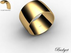 Wedding Rings Plain Polish 9ct. Yellow Gold ID: 9YGPP-12CLG