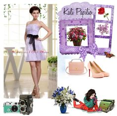 """Spaghetti Straps and Sash For Short Lilac Prom Dress"" by prettydressesforyou ❤ liked on Polyvore"