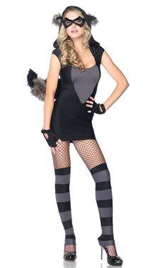 Women's Raccoon Costume Plus