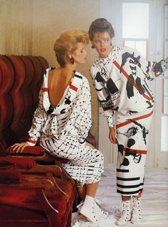 Totally 80's fashion.  My gosh, I remember that crap! Lol. I had those booties in black and I wore them with long pencil skirts and bulky sweaters!