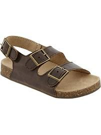 old navy Buckled Faux-Leather Sandals ($15)
