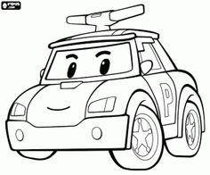 The police car Robocar Poli coloring page Preschool Coloring Pages, Cars Coloring Pages, Free Coloring Sheets, Coloring Pages To Print, Free Printable Coloring Pages, Coloring Pages For Kids, Coloring Books, Coloriage Robocar Poli, Kids Police Car
