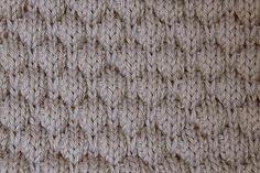 drop-stitch honeycomb stitch (wrong side)