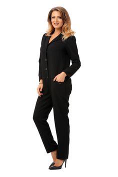 Salopeta OFFICE S002 BLACK Jumpsuit, Chic, Free, Dresses, Style, Fashion, Overalls, Monkeys, Elegant