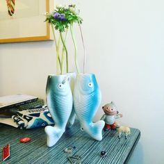 BAS KOSTERS - Love my new fish vase that i got from my boy for our anniversary #love #anniversary #antiques #home #vintagehome #flower #flowers