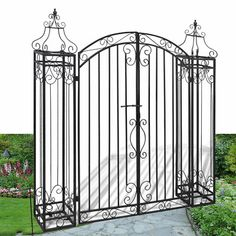 Safety Top Single Garden GateWrought Iron Metal Steel Gates3ft 3in Opening