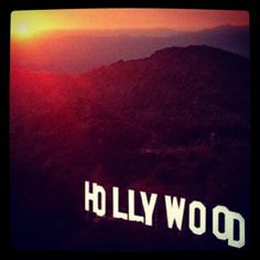 Sunset over the Hollywood sign. Here, creating my own dreams.