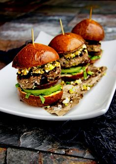 Mediterranean Lamb Burgers w/ Olive Tapenade and Feta Cheese | A Bachelor and His Grill