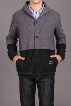 Two-Tone Cardigan \\ Love this, for HIM.