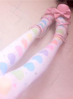 """frillypinkdreams: """"Ok, I dare you to say these aren't the best tights ever ( = v=)~ """""""