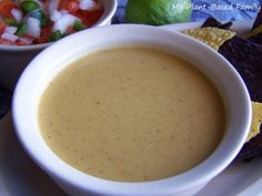 A super easy Faux Cheese Sauce that is dairy-free, gluten-free, oil-free and Vegan. It's nut-free as well! Use this as a queso, on pasta or veggies!
