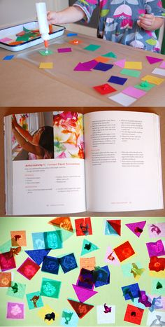 Colorful Contact Paper Suncatchers from The Artful Parent Book by Jean Vant Hul