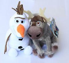 2 pcs Disney Frozen Sven Reindeer Olaf Snowman stuffed Animal Plush Xmas Toy