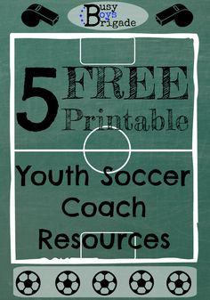 5 FREE Printable Resources for Youth Soccer Coach - Get you & your soccer team ready for a fun season!  Checklists to organize and prepare, sample {email} letter to families, and more!