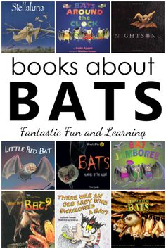 19 favorite fiction and nonfiction bat books for preschoolers. Also includes preschool activities and crafts for learning about bats. #preschool #kindergarten #halloween #battheme #booklist #kidlit #earlyliteracy