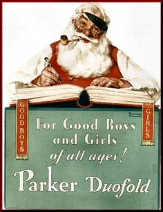 No Christmas Problem Now - Parker Pen ad 1929