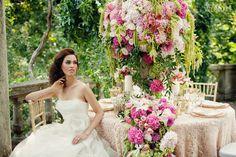 The Secret Garden - WedLuxe Magazine Plan My Wedding, Wedding Pics, Wedding Styles, Wedding Gowns, Wedding Day, Wedding Table, Wedding Flowers, Wedding Centerpieces, Wedding Decorations