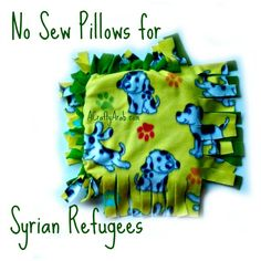 A Crafty Arab: No Sew Pillows for Syrian Refugees
