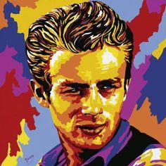 Pop-Art-Oil-Paintings-Handmade-Canvas-Andy-Warhol-James-Dean-by-Vladimir-Gorsky