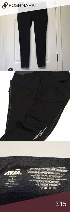 Avia Full Length Tights Avia Full Length Tights, EUC, build in small pocket inside the front of the tights Avia Pants Leggings