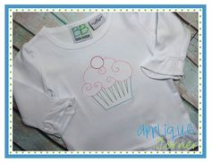 Cupcake 2 Sketch Embroidery Design