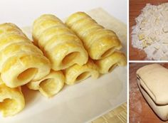 Easy Cacke : Sacrifice some of your free time and prepare a delicious puff pastry at home . Easy Cake Recipes, Snack Recipes, Cooking Recipes, Eclairs, Czech Recipes, Ethnic Recipes, Something Sweet, Yummy Food, Cheese
