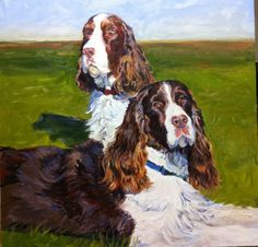 Custom oil portrait of your dog, cat, horse or any animal or even several!