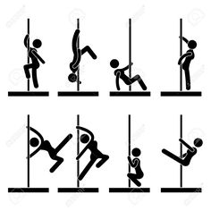 Sexy Pole Dance Icon Symbol Sign Pictogram Royalty Free Cliparts, Vectors, And Stock Illustration. Pic 15209854.