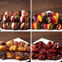 Bom apetite! | Quatro espetinhos diferentes para servir no próximo churrasco
