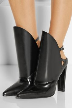 Alexander Wang Lys polished-leather ankle boots #THEOUTNET