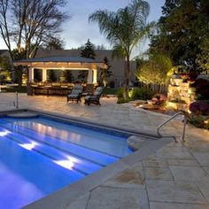 Pool Deck with Bar